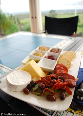 Crane Wines cheese platter