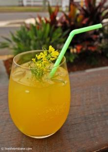 House made mango soda with kaffir lime